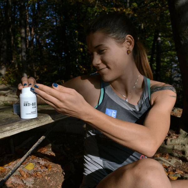Anti Aging Serum mit Vitamin E - Benutzerin