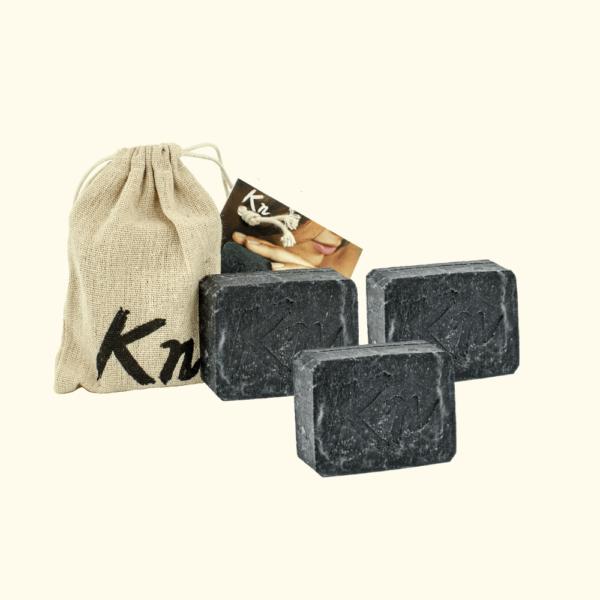3x schwarze Seife Karbonoir