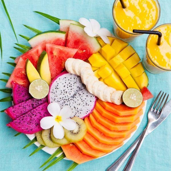 Neurodermitis Lebensmittel - tropische Früchte